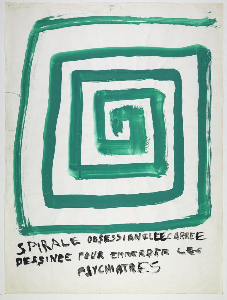 André Petit (1942-?) - Spirale obsessionnelle carrée dessinée pour emmerder les psychiatres